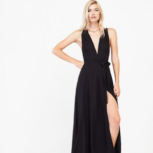 Reformation: Lucille Maxi Wrap Dress/Gown